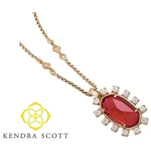 Kendra Scott Brett Pendant Necklace Berry